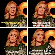 Adele Memes - when she had this reaction after being asked if she d ever play a