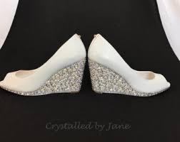wedding shoes wedges wedding shoes wedge etsy