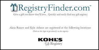 s bridal registry best kohls wedding gift registry sheriffjimonline