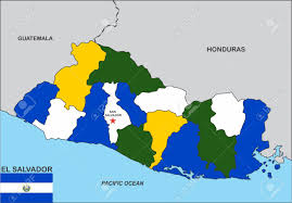 El Salvador On World Map by Very Big Size El Salvador Political Map Illustration Stock Photo