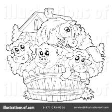 farm animal coloring book farm animals clipart line drawing pencil and in color farm