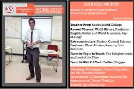 teacher trading cards make your own michael k milton