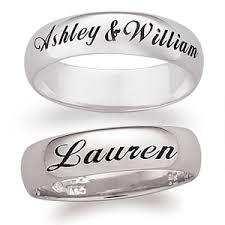 wedding ring names 219 99 14k white gold engraved ring wedding