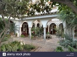 patio cordobes in the hotel conquistador cordoba andalucia