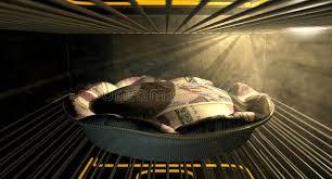 hochzeitstorten fã llung norwegisches krona geld torten backen im ofen stockfoto bild
