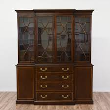 Mahogany Display Cabinets With Glass Doors by Gorgeous Large Mahogany China Cabinet At 6 5 Feet Tall This
