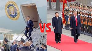 Obama No American Flag Obama Vs Trump Welcoming Ceremony In China Colossal Difference