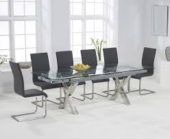 glass extending dining table and chairs contemporary design