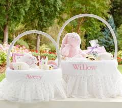 personalized easter basket liners gold dot tulle easter basket liners pottery barn kids