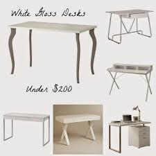 Simple White Desk Designing Domesticity 6 White Gloss Desks Under 200