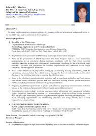 Mcdonalds Resume Skills Edward Medina Resume Phil