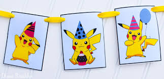 party banner free pikachu party banner printable for a party