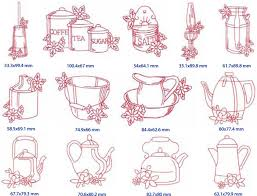Kitchen Towel Embroidery Designs Janome Australia Embroidery Design Esqa Redwork Country Kitchen
