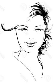 best 15 sketches of girls faces vector photos free vector art