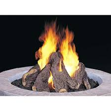 gas log fire pit table outdoor natural gas fire pit logs outdoor designs
