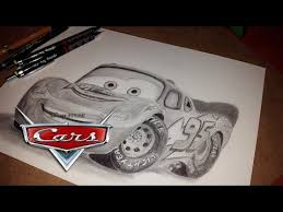 lightning mcqueen cars pencil drawing youtube