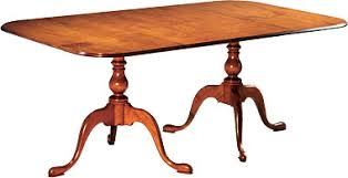 queen anne lexington double pedestal table queen anne dining