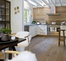 wooden wall panelling and wood furniture eco interior design and