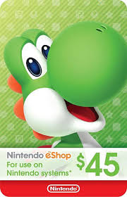 nintendo eshop gift card nintendo eshop gift card 45 us prepaidgamercard