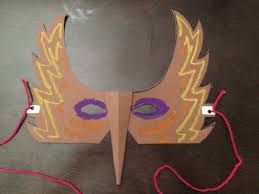 how to make a paper bird mask youtube
