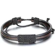 leather rope bracelet images Boniskiss mens womens leather rope bracelet adjustable tribal leather jpg