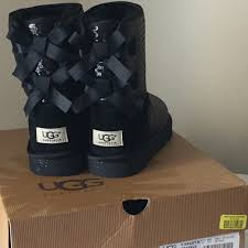 ugg bailey bow boots on sale 44 ugg other bnib black ugg sequin bailey bow boots