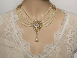 choker necklace wedding vintage images Bridal necklace choker pearls crystal victorian weddings vintage jpeg