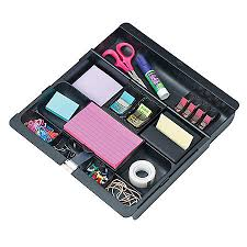 Desk Drawer Organizer 3m Desk Drawer Organizer Black By Office Depot Officemax