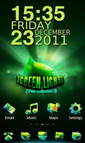 themes mobile android download green light clock for android theme htc theme mobile toones