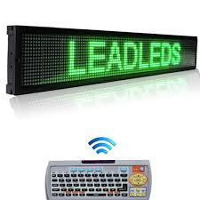 amazon com leadleds 40x6 3 inches remote programmable led sign