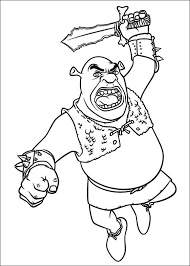 coloring page shrek 4 coloring pages 15