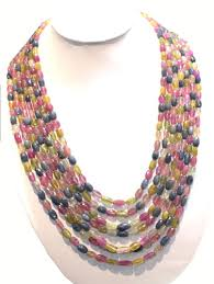 bead design jewelry necklace images Latest design multi plain beads necklace jpg