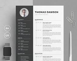 Resume Template With Cover Letter Resume Template Cv Template Cover Letter For Word Resume