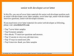 Senior Net Developer Resume Sample Dot Net Developer Cover Letter