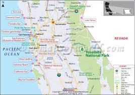 california map in usa map usa yosemite major tourist attractions maps