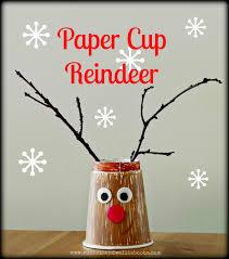 sun hats u0026 wellie boots paper cup reindeers seasonal kids