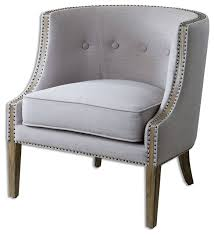 Grey Accent Chair Gamila Light Gray Accent Chair Transitional Armchairs And