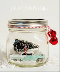 Decorated Jars For Christmas Car In Jar Snow Globe Mason Jar Crafts Love