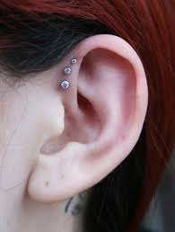 earrings on top of ear top 10 different ear piercing types listden