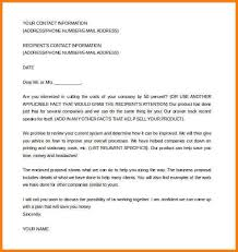 business proposal letter doc 6 free sample of business proposal