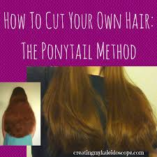 ponytail haircut technique how to cut your own hair the ponytail method creating my