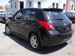 black nissan versa 2009 super black nissan versa 1 8 s hatchback 29957761 photo 6
