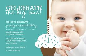 best design first birthday invitation cards blue color background