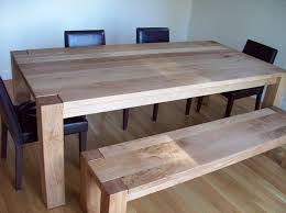 White And Oak Dining Table White Oak Dining Table And Bench By J Lumberjocks
