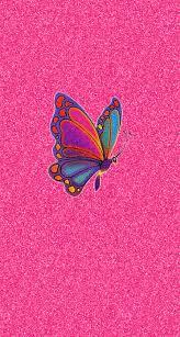 glitter wallpaper with butterflies pink glitter colorful butterfly iphone wallpaper color glitter