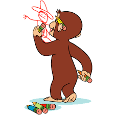 clipart curious george collection