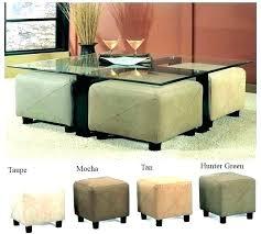 Glass Ottoman Coffee Table Glass Ottoman Coffee Table Glass Coffee Table With Ottomans