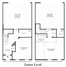 Townhome Floor Plan Designs The Enclave At Arundelpreserve Townhomes The Bethesda Home Design