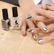 2pcs set 6ml metallic mirror effect metal silver nail polish