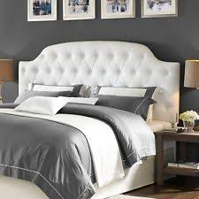 White Headboard King Dorel Living Lyric Button Tufted Faux Leather Headboard King White